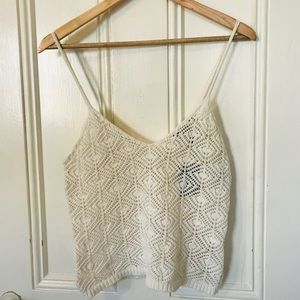 FOREVER 21 Knit crochet top S